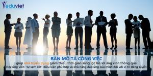 xây dựng và triển khai bản mô tả công việc trong tuyển dụng