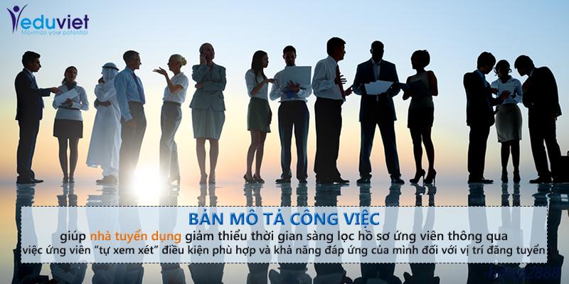 Bản mô tả công việc nền tảng của các chức năng quản lý nhân sự