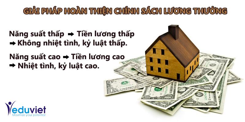 Giải pháp hoàn thiện chính sách lương thưởng cho doanh nghiệp Việt