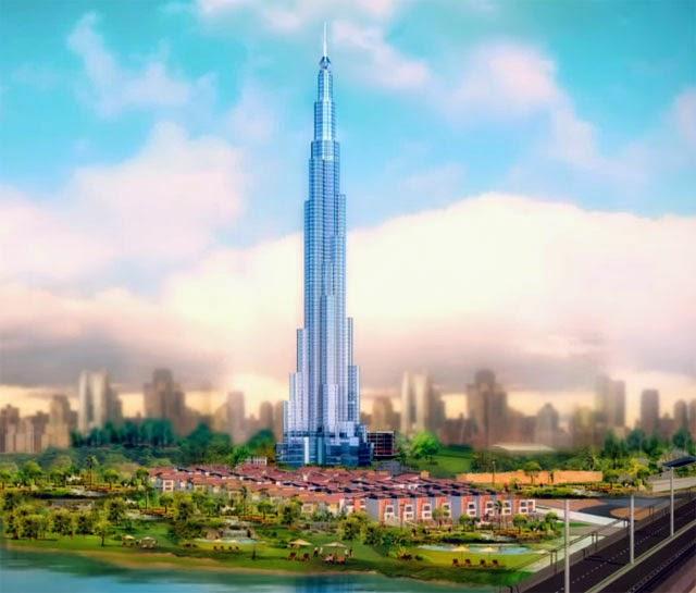 Phối cảnh siêu dự án The Landmark 81 của Vingroup mà Coteccons là nhà thầu xây dựng.