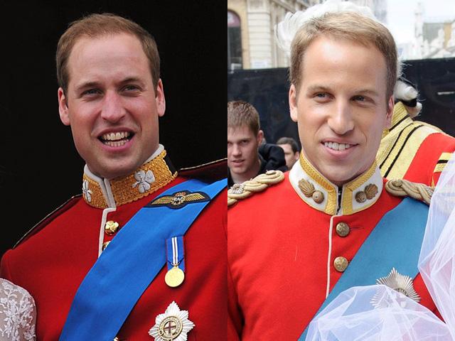 Hoàng tử Anh William (bên trái) và Simon Watkinson (bên phải).